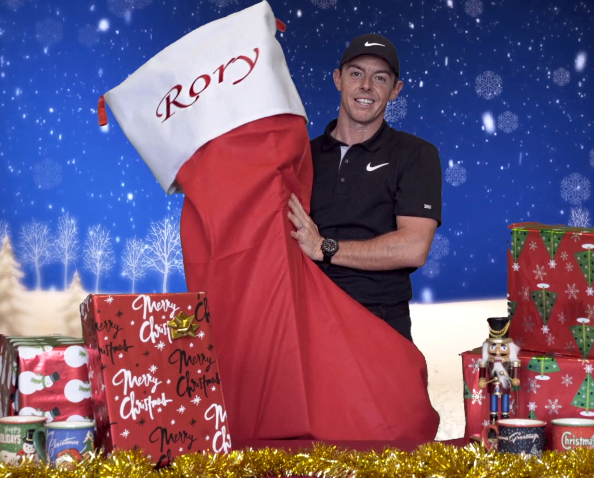 Rory McIlroy holiday stocking
