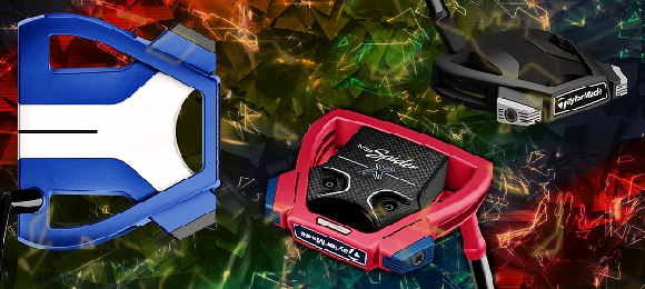 Blue red and black MySpider X putters